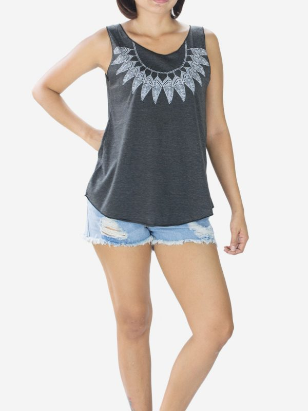 black-native-american-feathers-vest-top