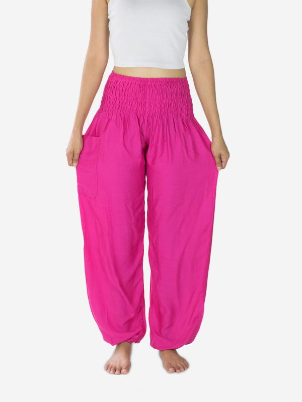 bright-pink-thai-harem-pants