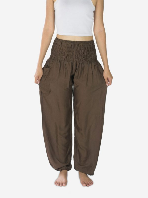 Brown Yoga Pants Thai bohemian
