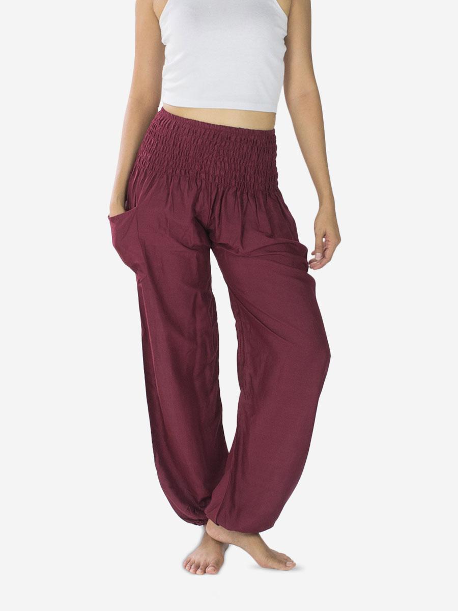 burgundy-color-yoga-pants-thai