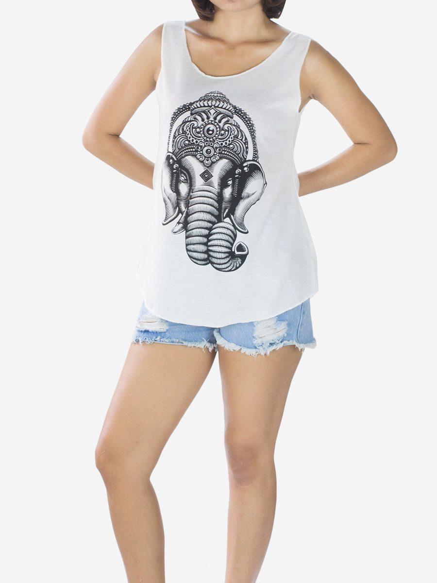 Elephant Head Yoga Vest Top