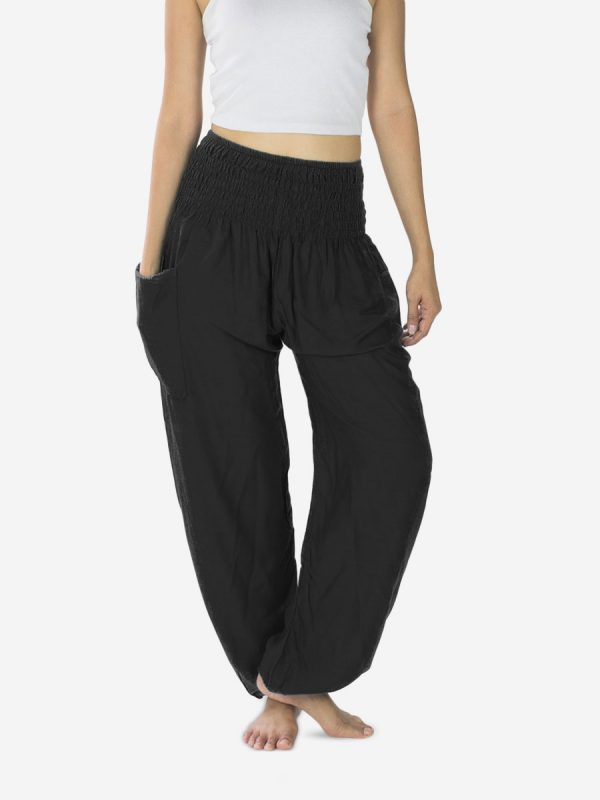 Plain Black Thai Harem Pants