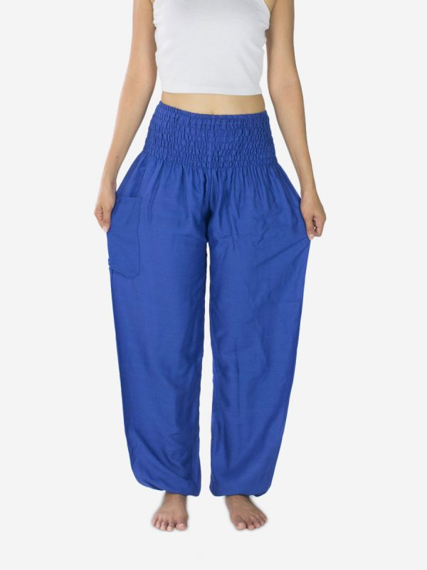 plain-blue-thai-yoga-pants-rayon