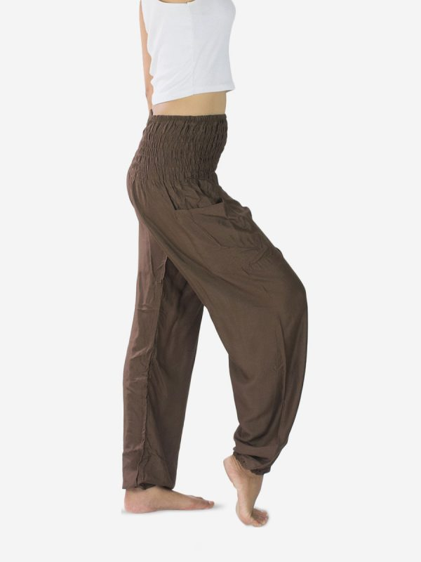 plain-brown-thai-harem-pants-rayon