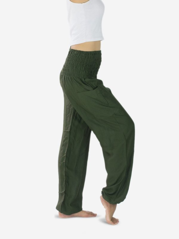 plain-green-thai-yoga-pants