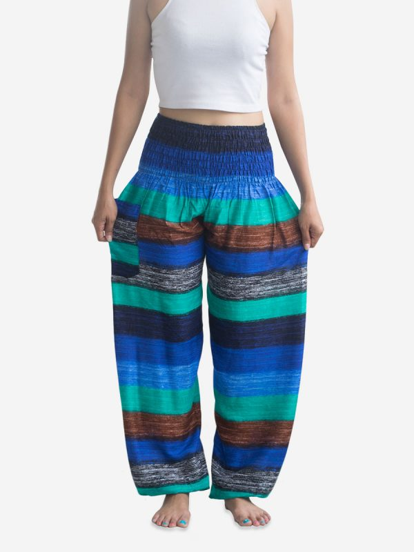 big-blue-striped-thai-yoga-trousers-festival-pants