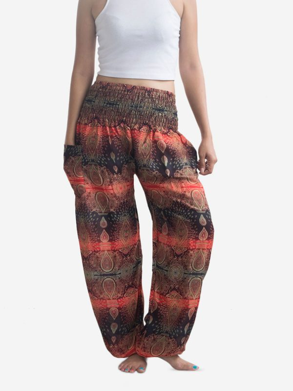 Teardrop Red Thai Harem Pants