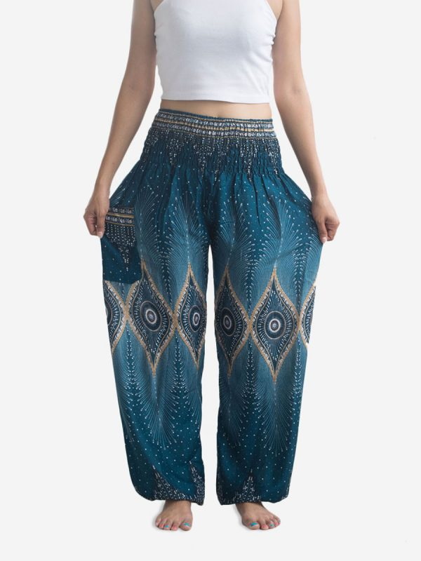 Turquoise & Gold Thai Harem Pants