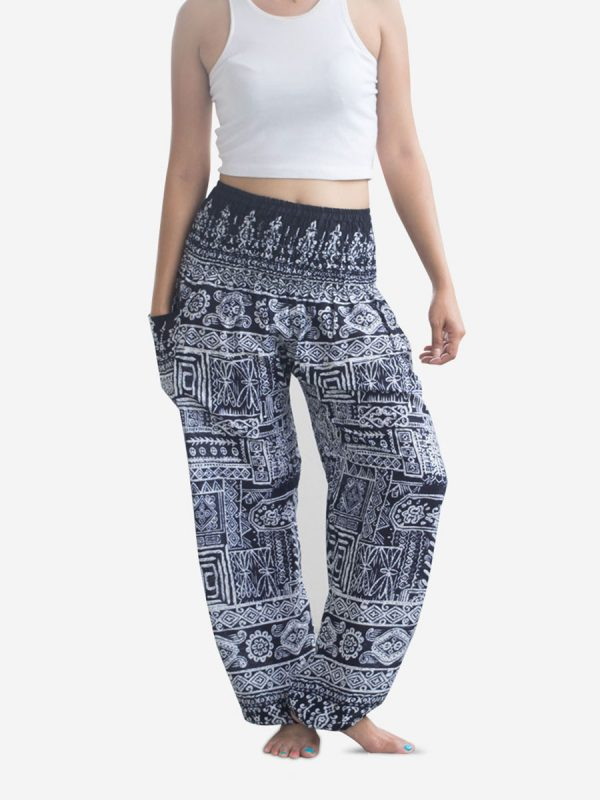 Aztec Blue Thai Harem Pants