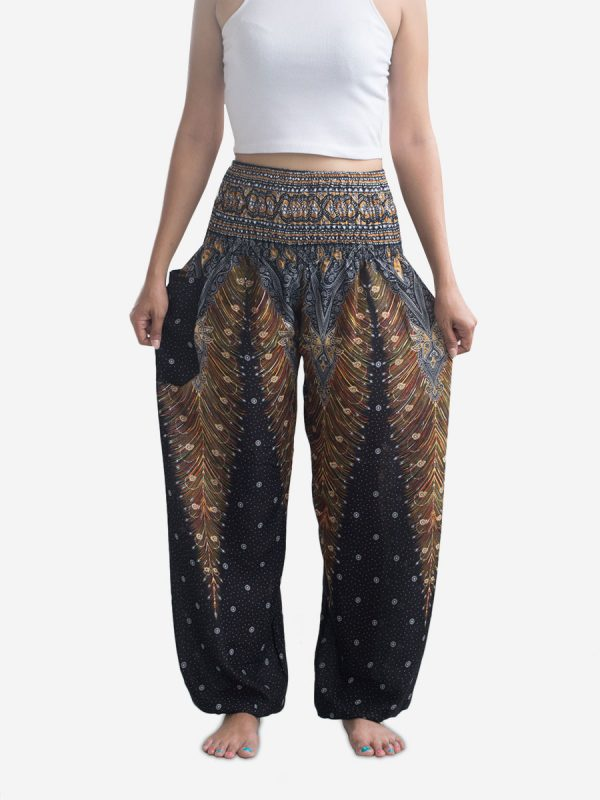 black-and-yellow-thai-harem-trousers