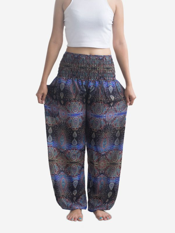 blue-striped-thai-harem-pants-boho-yoga-trousers