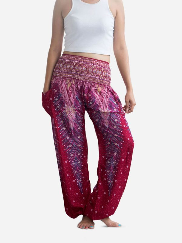 Pink Peacock Thai Harem Pants