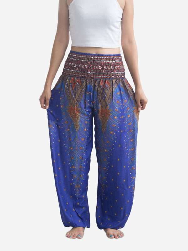 Blue Peacock Thai Harem Pants