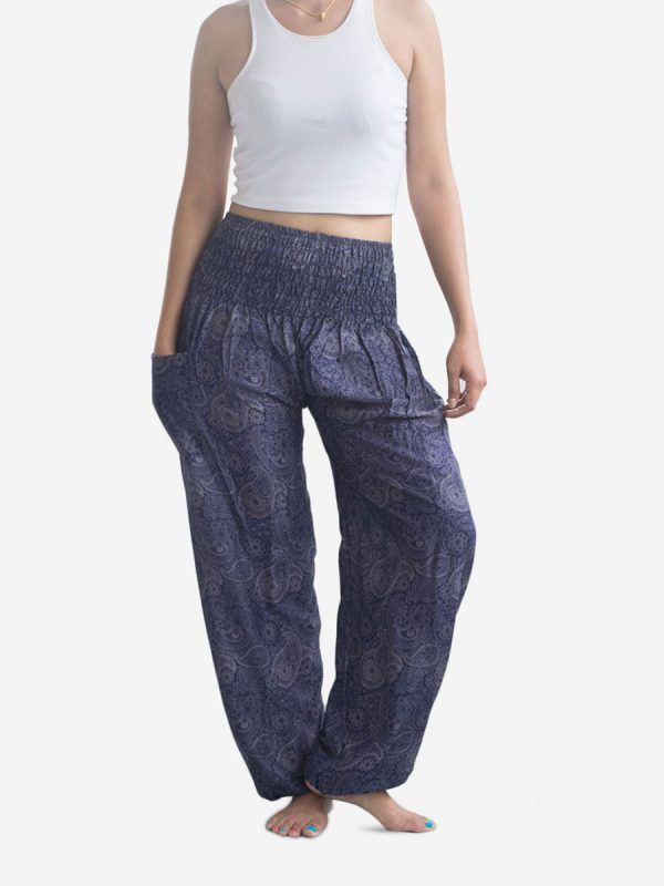 Blue Paisley Harem Pants