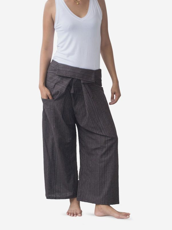 Women's Plain Dark Thai Fisherman Pants