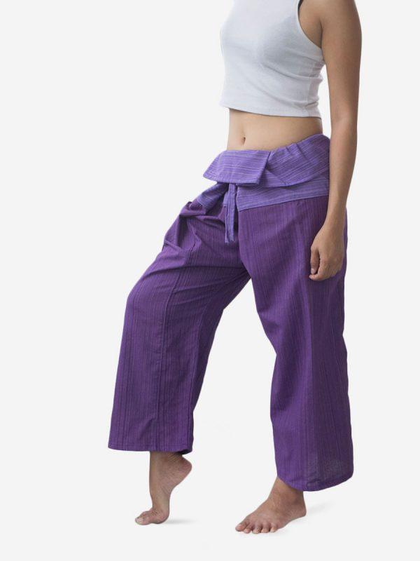 Women's Two Tone Purple Thai Fisherman Pants