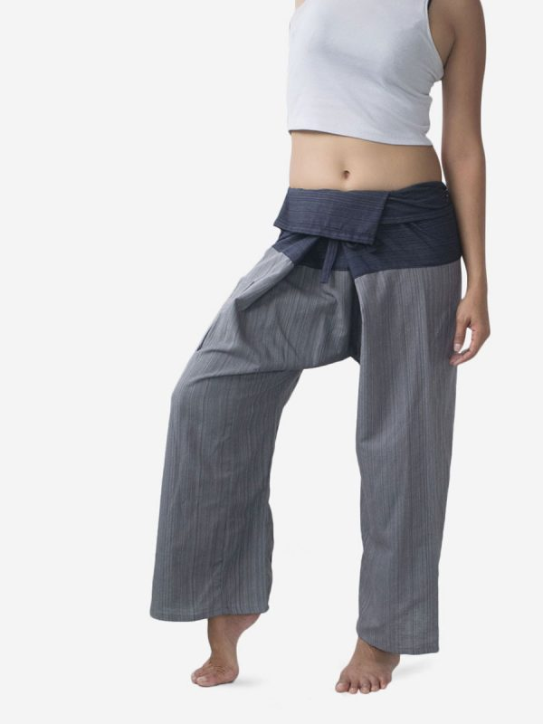 Women's Two Tone Grey Thai Fisherman Pants