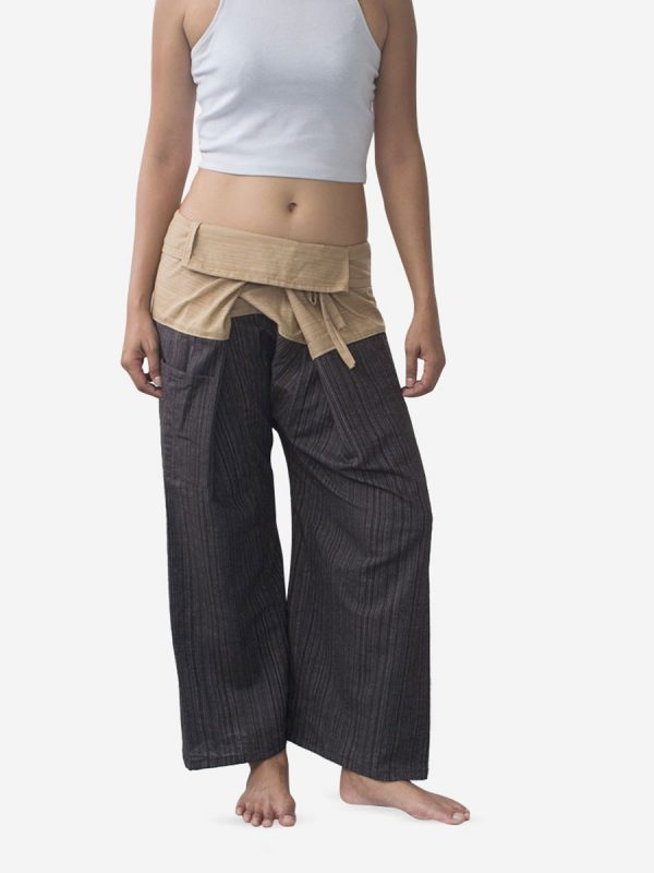 Women's Two Tone Sand Thai Fisherman Pants