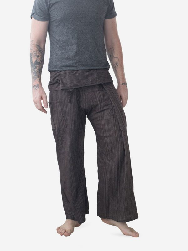 Men's Plain Dark Thai Fisherman Pants