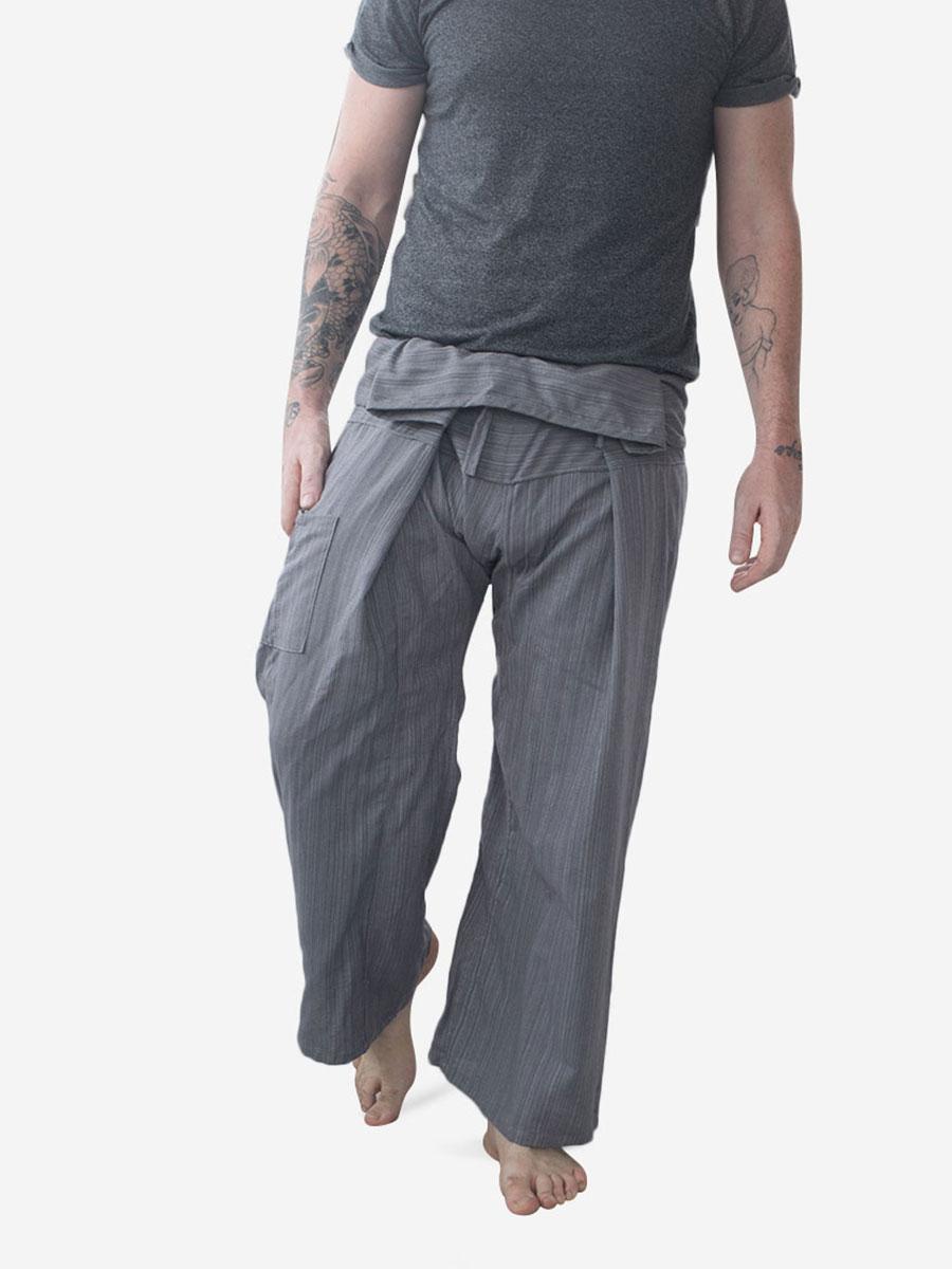 Men's Plain Grey Thai Fisherman Pants