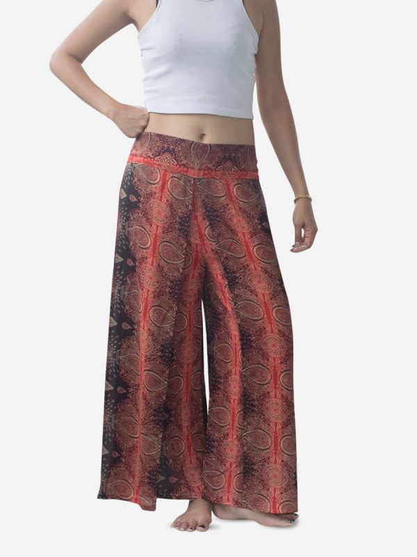 Teardrop Red Harem Wrap Palazzo Pants