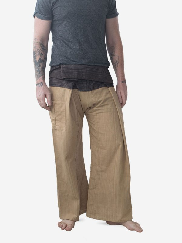Men's Two Tone Sand Thai Fisherman Pants