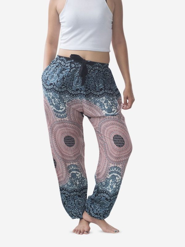 Tie Waist Spiral Thai Harem Pants