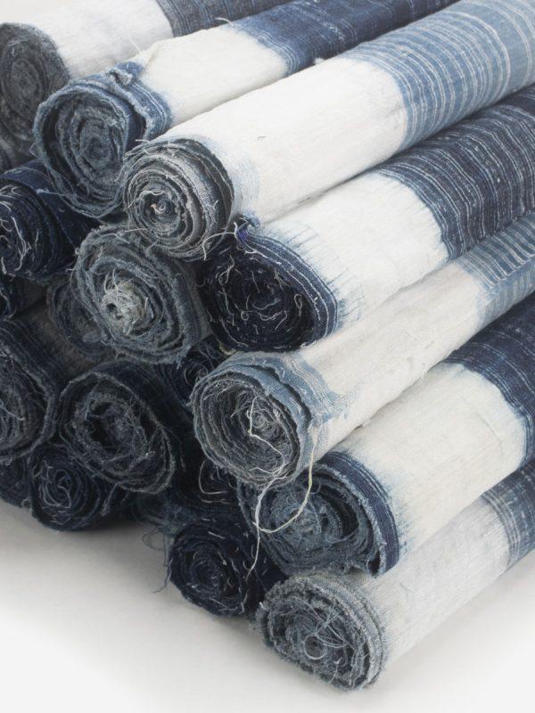 Wholesale Vintage Hmong Hill Tribe Indigo Hemp Fabric