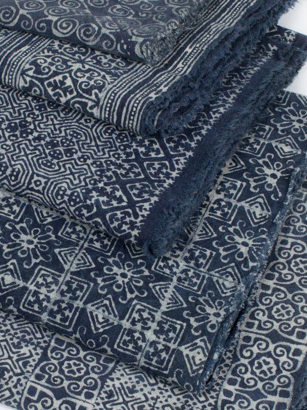 25yd Wholesale Hill Tribe Indigo Fabric