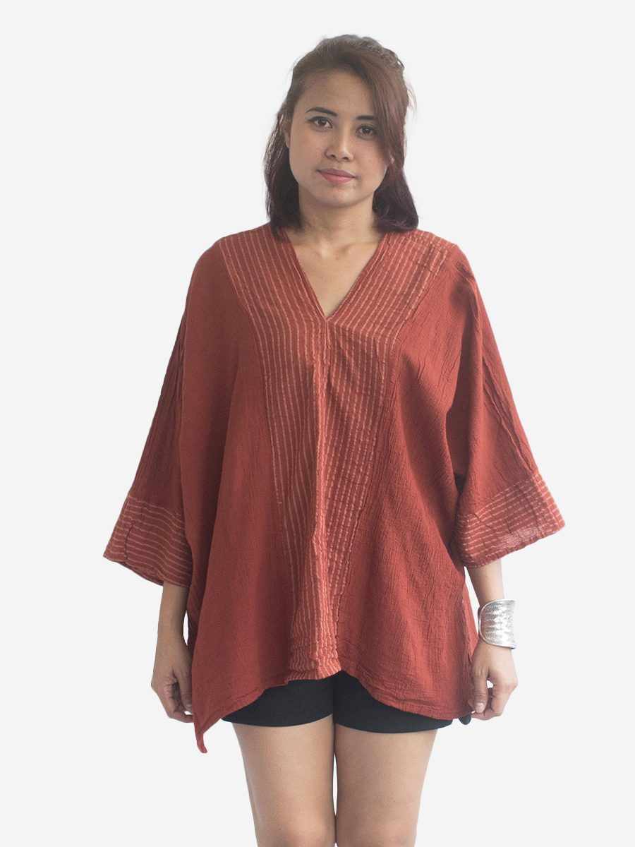 Earthy Thai Cotton Kaftan Poncho