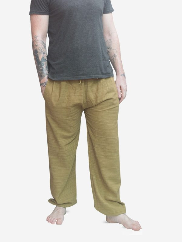 Men's  Pinstriped Sand Thai Cotton Joggers